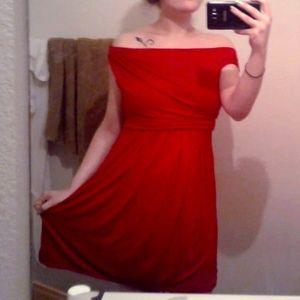 Express Women's Small Red Short-Sleeve Dress